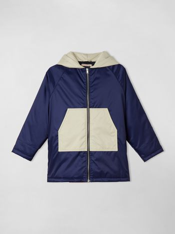 Marni COLOR-BLOCK NYLON PADDED COAT Man f