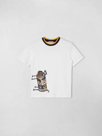 Marni SHORT SLEEVE T-SHIRT WITH PRINT ON THE FRONT Man f