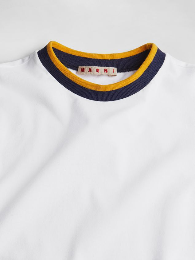 Marni SHORT SLEEVE T-SHIRT WITH PRINT ON THE FRONT Man - 3