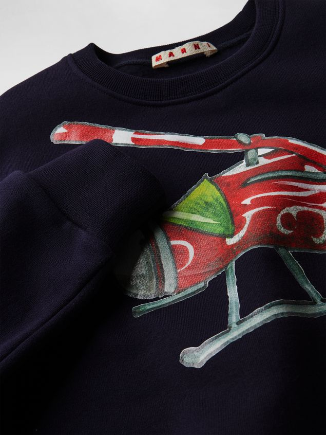 Marni COTTON SWEATSHIRT WITH PRINT ON THE FRONT Man - 4