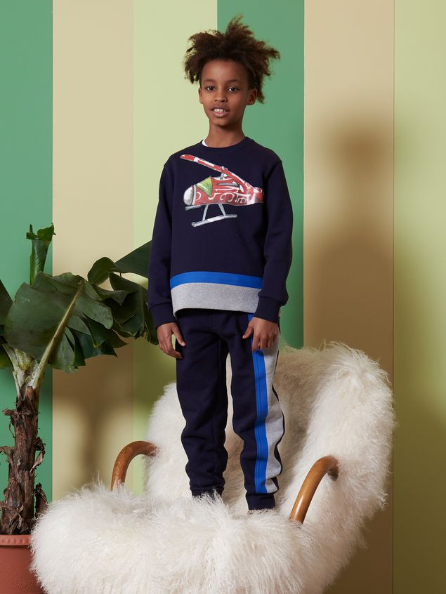 Marni COTTON SWEATSHIRT WITH PRINT ON THE FRONT Man - 2