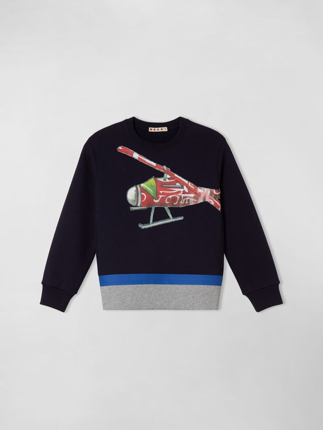 Marni COTTON SWEATSHIRT WITH PRINT ON THE FRONT Man - 1