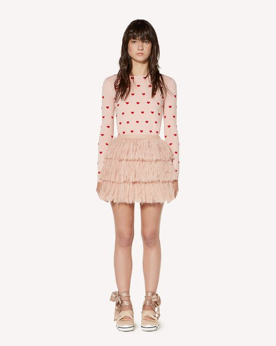 REDValentino Hearts jacquard wool blend sweater