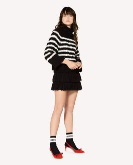 REDValentino Cotton jumper with Heart inlay