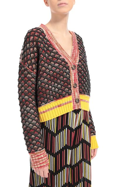 M MISSONI Cardigan Steel grey Woman - Front