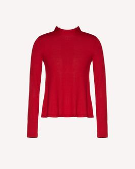 REDValentino Wool jumper with neck tie