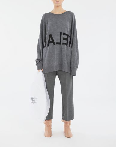 SWEATERS Reversed logo sweater Grey