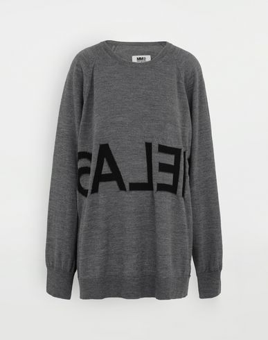 KNITWEAR Reversed logo sweater Grey