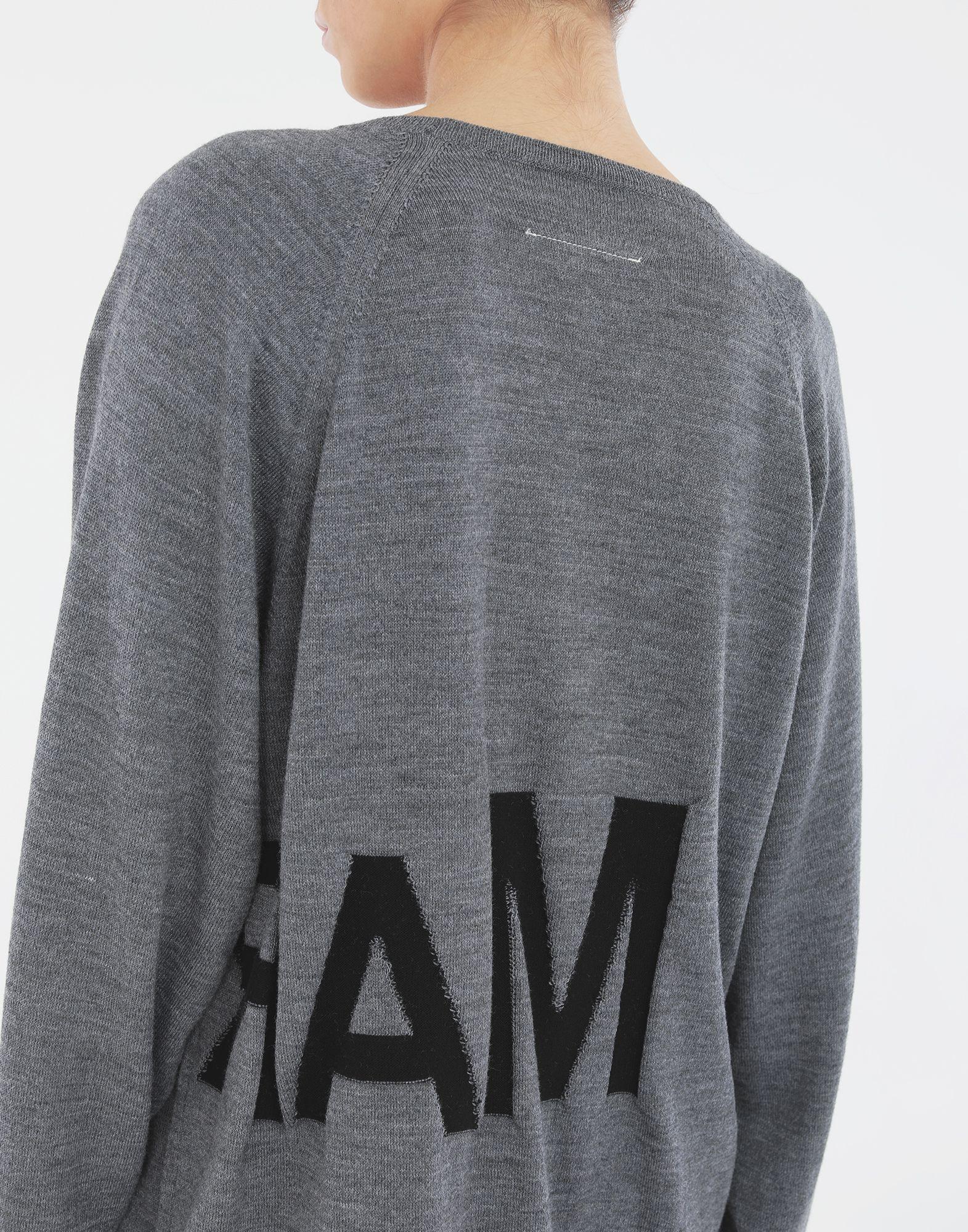 MM6 MAISON MARGIELA Reversed logo sweater Crewneck Woman b