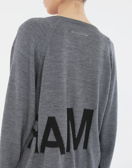 MM6 MAISON MARGIELA Reversed logo sweater Crewneck Woman b