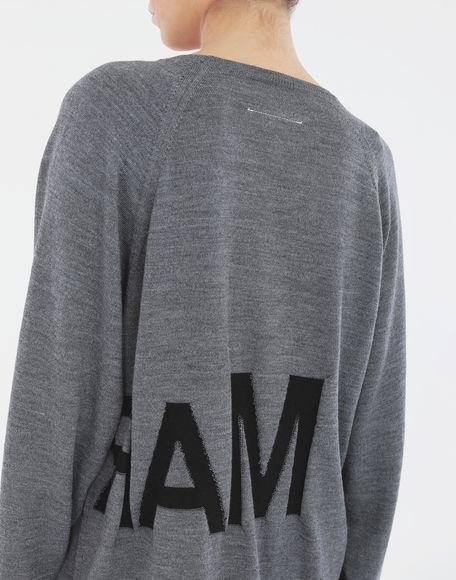 MM6 MAISON MARGIELA Reversed logo sweater Crewneck sweater Woman b