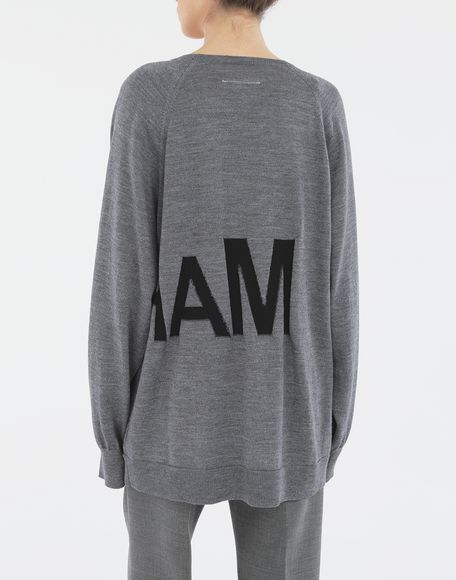 MM6 MAISON MARGIELA Reversed logo sweater Crewneck Woman e