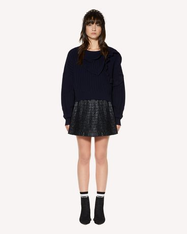 REDValentino Hearts ruffles  wool blend sweater