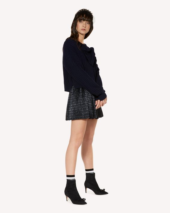 REDValentino Ruched wool jumper with heart motif