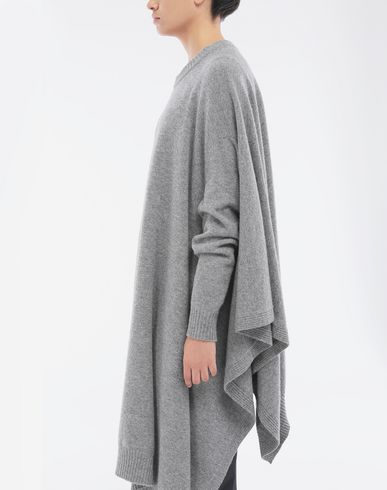 KNITWEAR Asymmetric wool dress Grey
