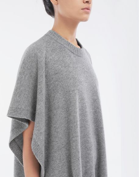 MAISON MARGIELA Asymmetric wool dress Crewneck sweater Woman a