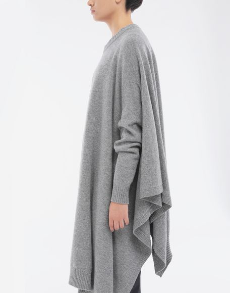 MAISON MARGIELA Asymmetric wool dress Crewneck sweater Woman b