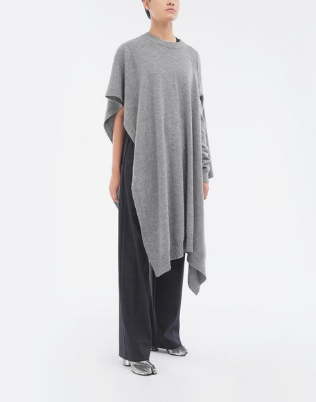MAISON MARGIELA Asymmetric wool dress Crewneck sweater Woman d