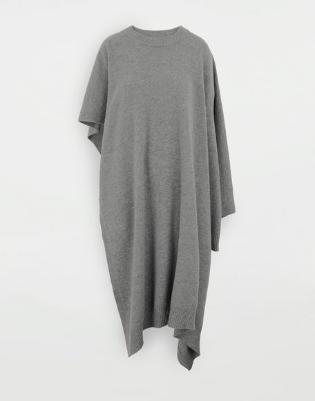 MAISON MARGIELA Asymmetric wool dress Crewneck sweater Woman f