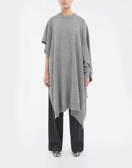 MAISON MARGIELA Asymmetric wool dress Crewneck sweater Woman r