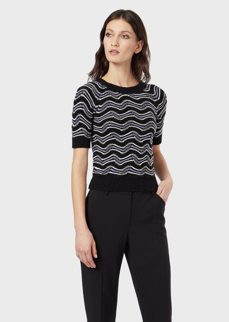 Short-sleeved, KFB-Knit top