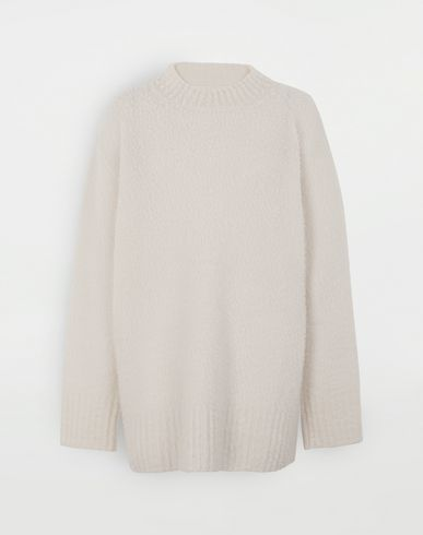 KNITWEAR  Oversized wool sweater Ivory