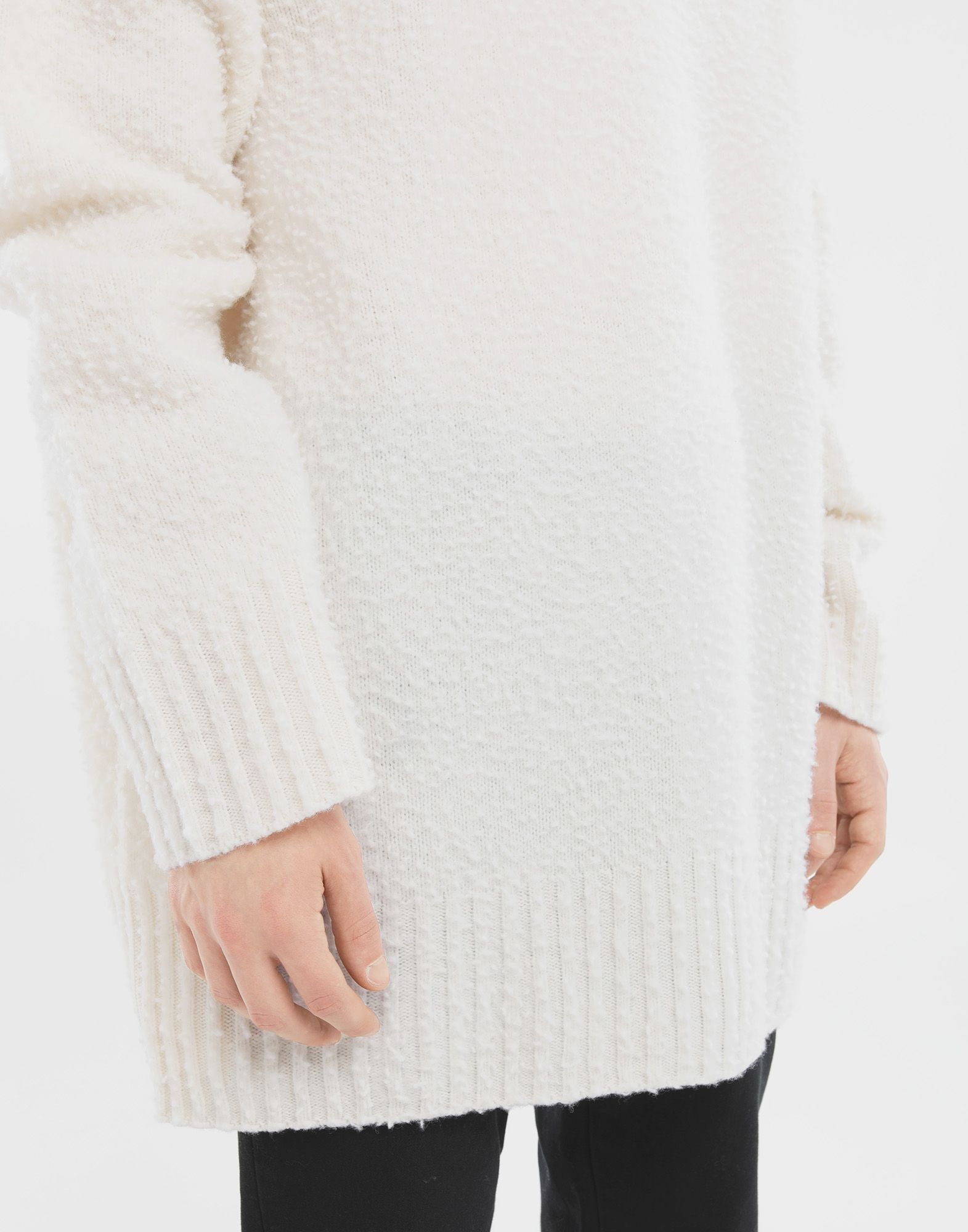 MAISON MARGIELA Oversized wool sweater Crewneck sweater Man b
