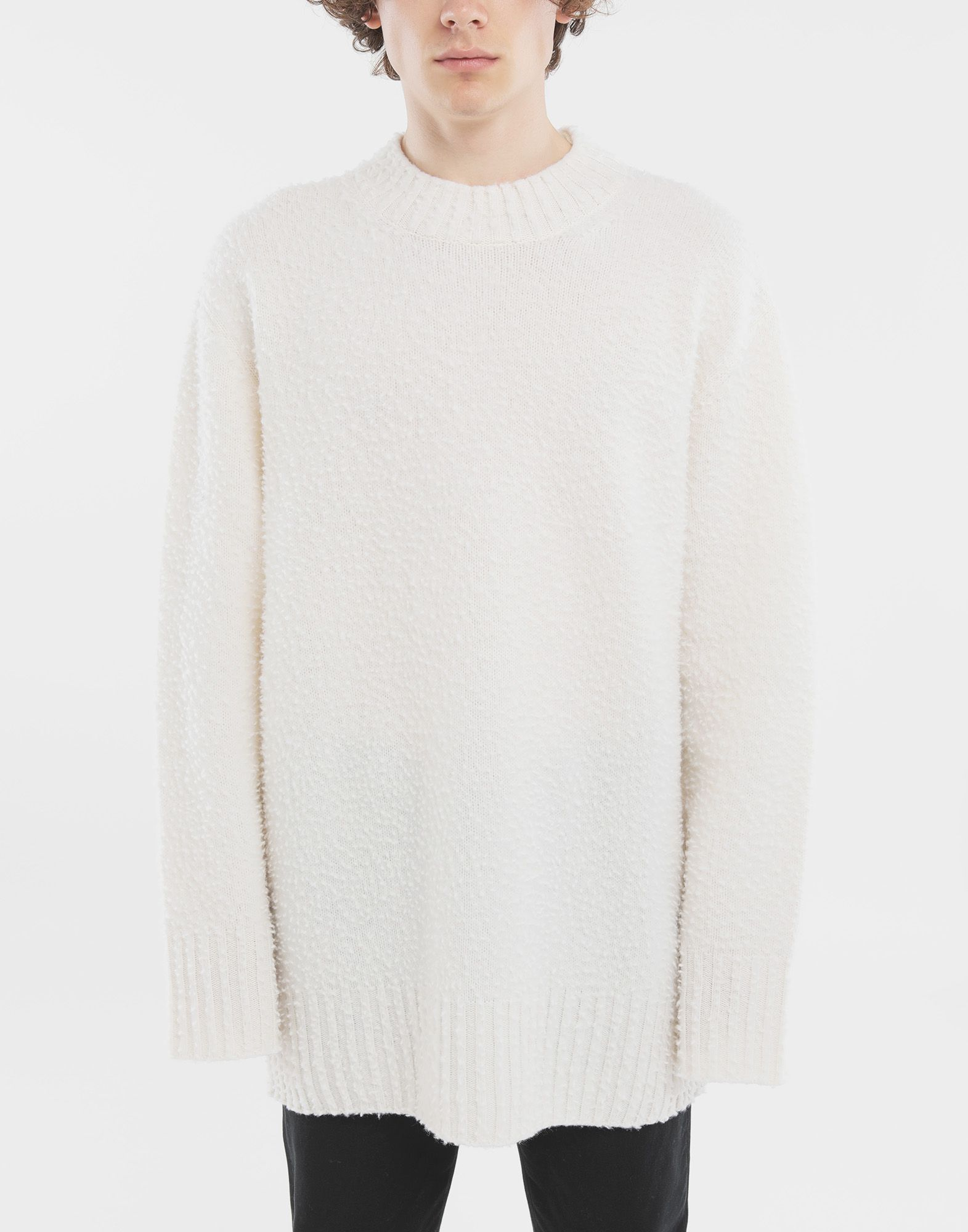 MAISON MARGIELA Oversized wool sweater Crewneck Man r