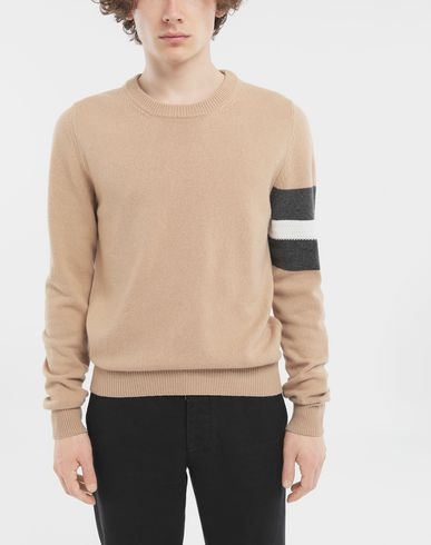 SWEATERS Stripe sweater  Beige