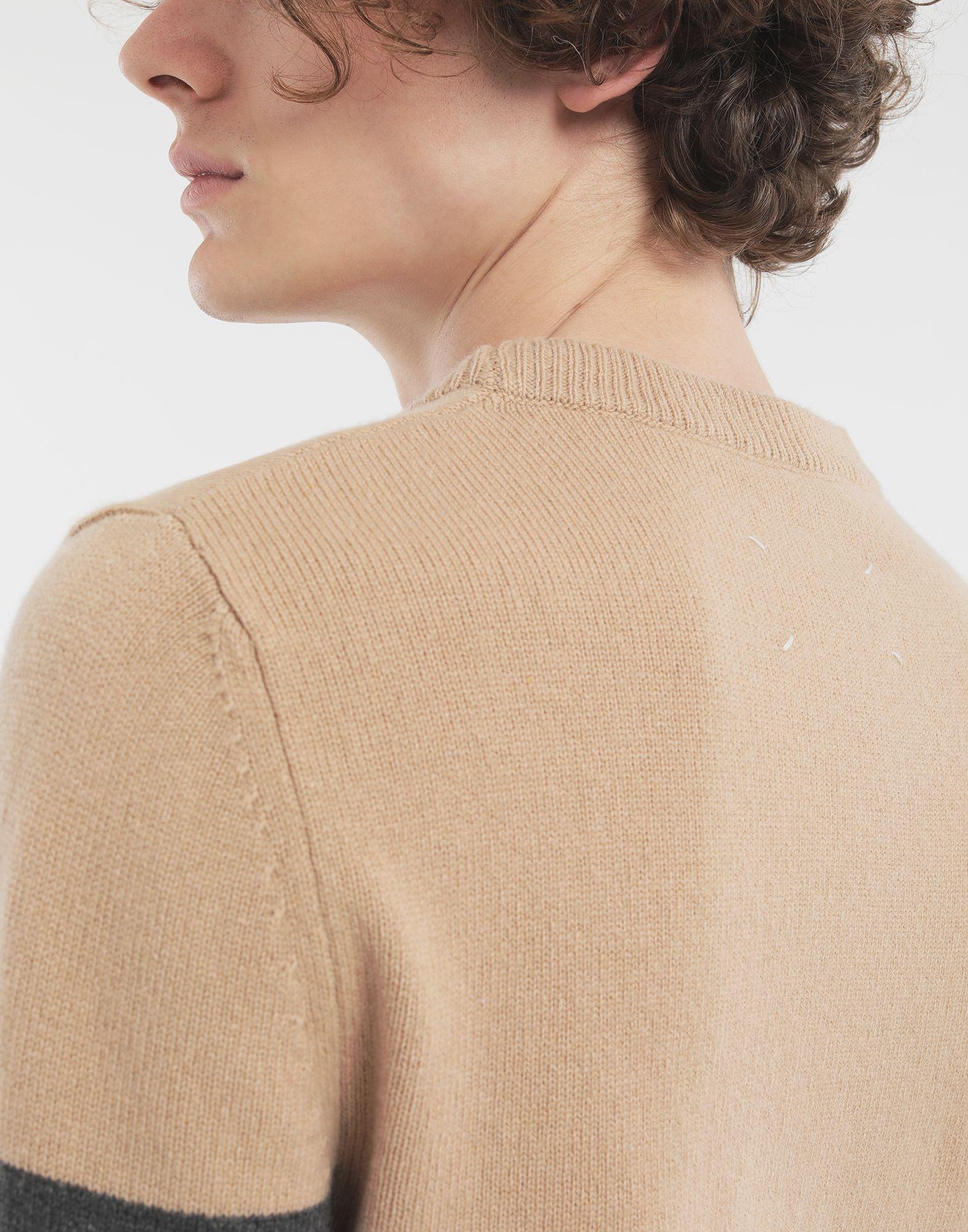 MAISON MARGIELA Gestreifter Pullover Pullover mit Rundkragen Herr b