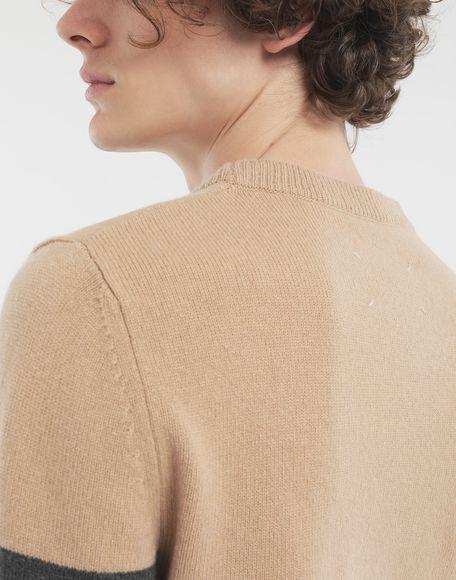 MAISON MARGIELA Jersey con franjas Jersey de cuello redondo Hombre b