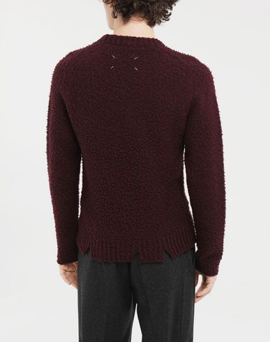 KNITWEAR Destroyed sweater Deep purple