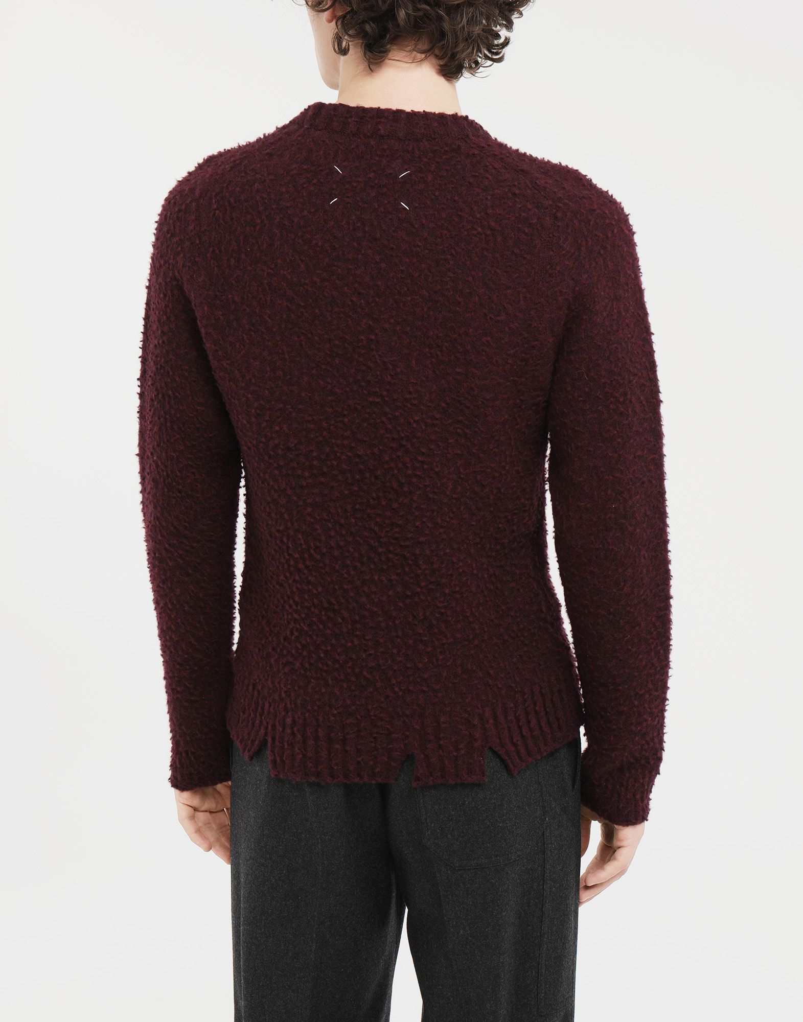 MAISON MARGIELA Destroyed sweater Crewneck Man e