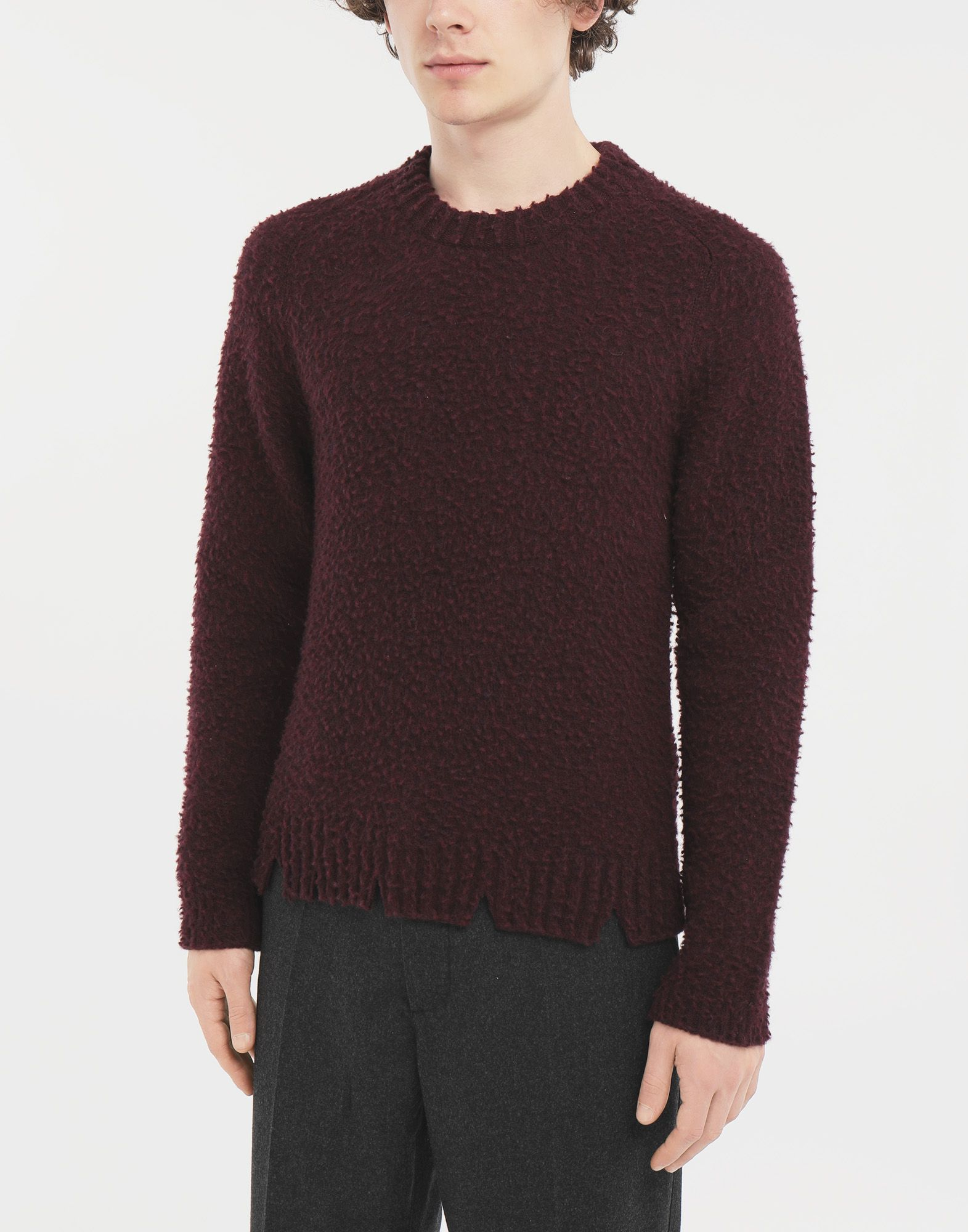 MAISON MARGIELA Destroyed sweater Crewneck Man r