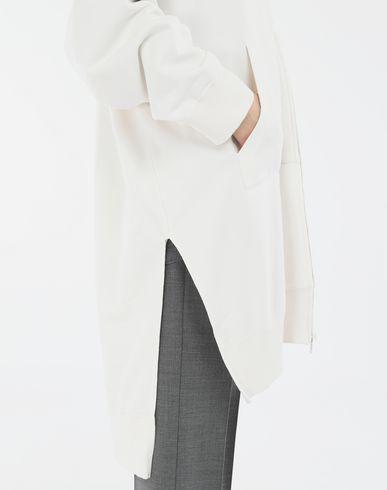 SWEATERS Long hooded sweatshirt White