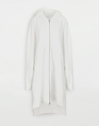 MM6 MAISON MARGIELA Long hooded sweatshirt Hooded sweatshirt Woman f