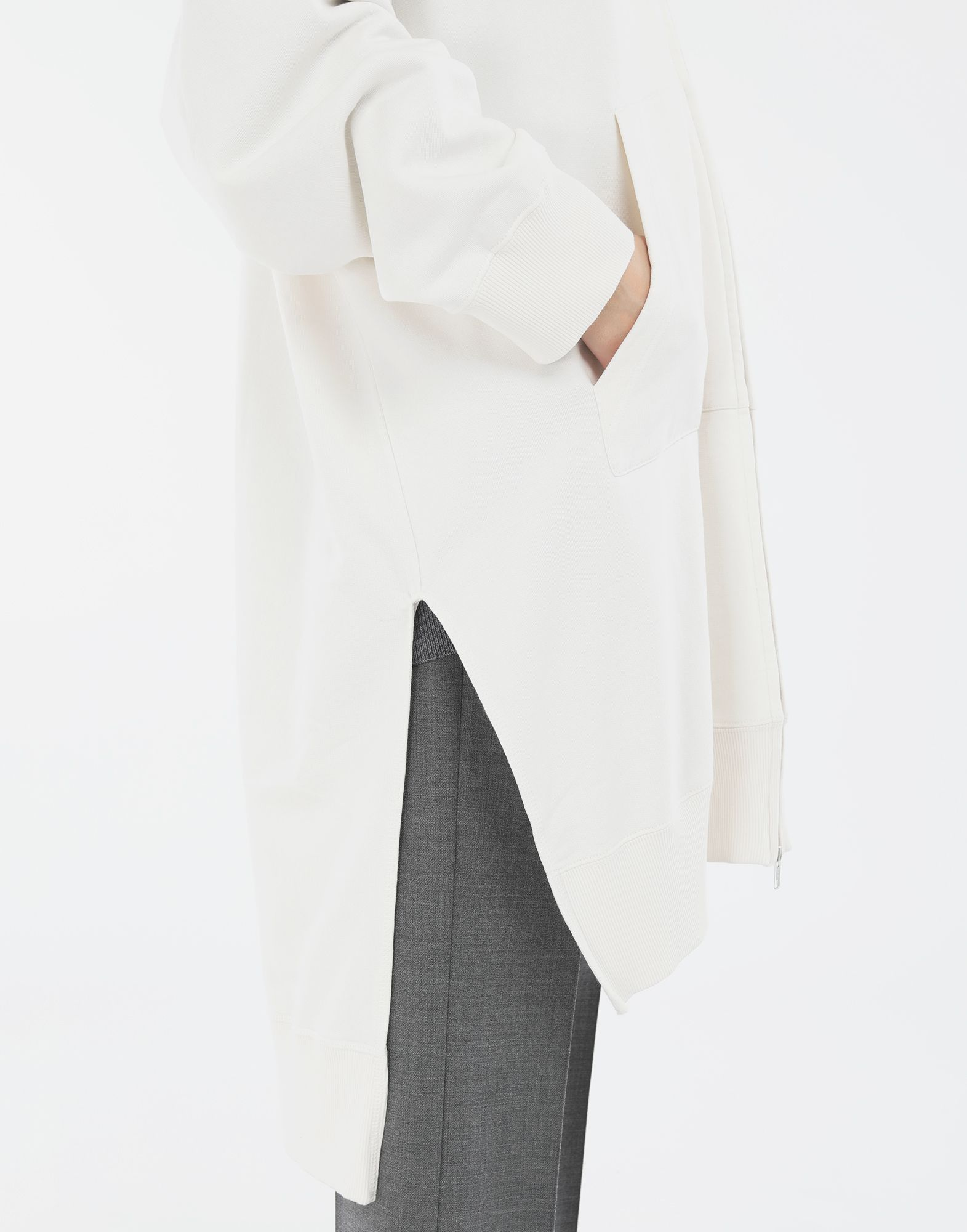 MM6 MAISON MARGIELA Long hooded sweatshirt Hooded sweatshirt Woman b