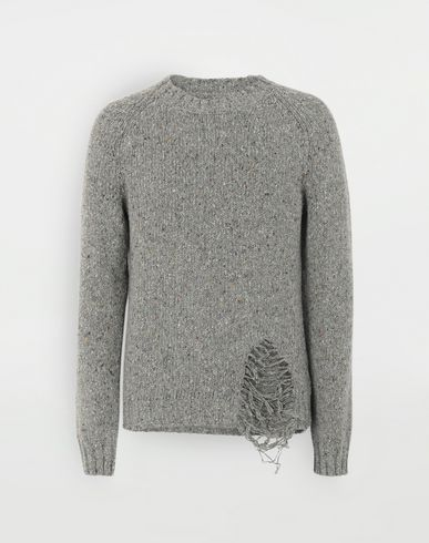 MAISON MARGIELA Destroyed hem sweater Crewneck Man f