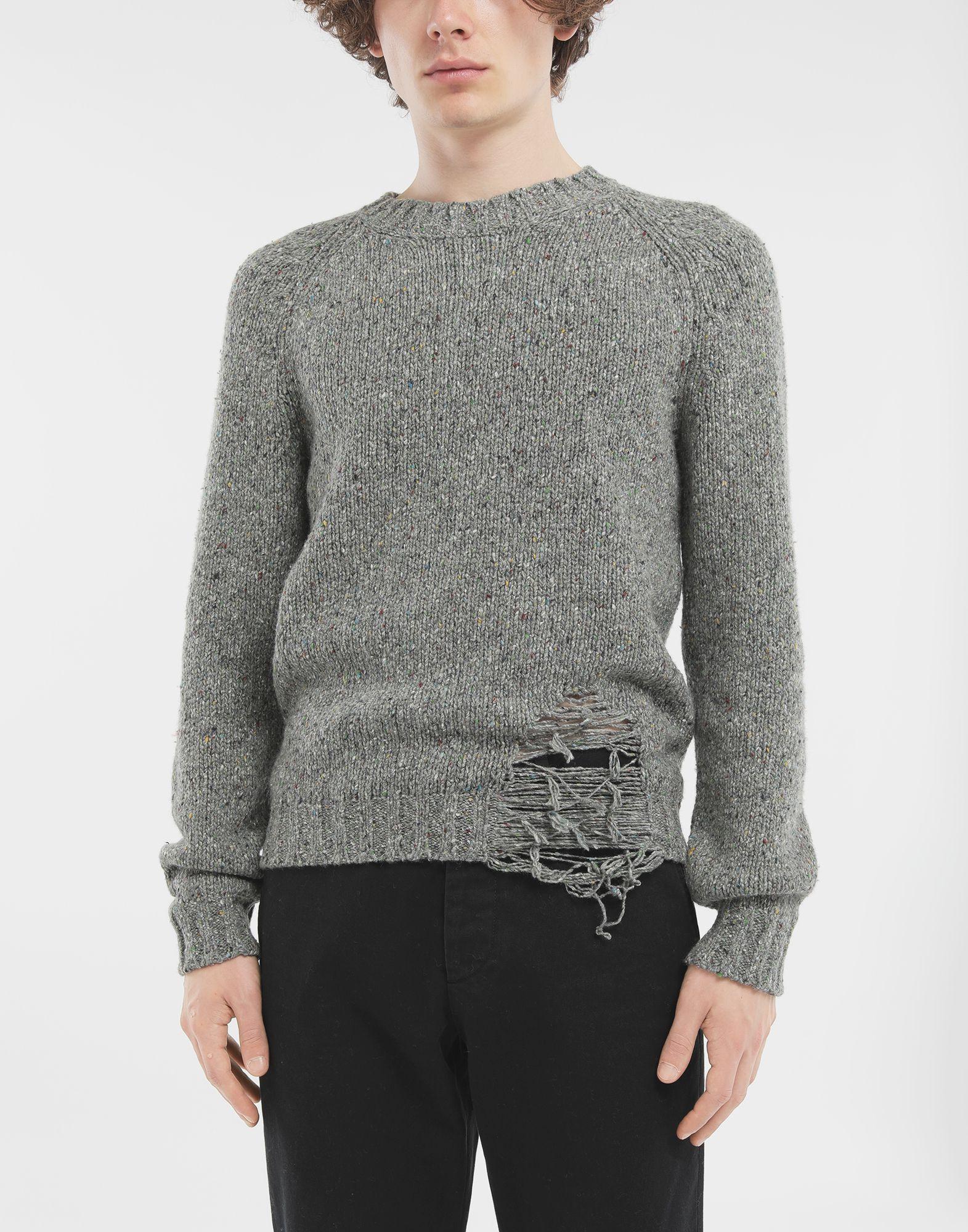 MAISON MARGIELA Destroyed hem sweater Crewneck Man r