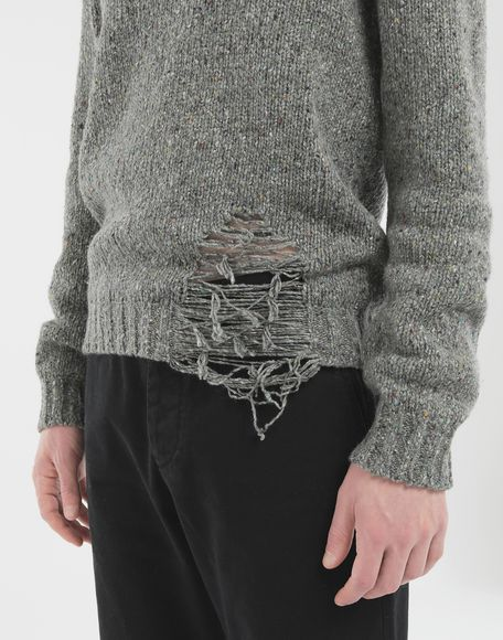 MAISON MARGIELA Destroyed hem sweater Crewneck Man a