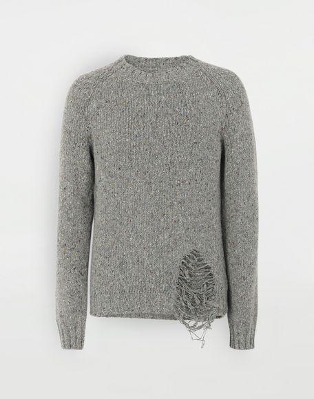 MAISON MARGIELA Destroyed hem sweater Crewneck Man f