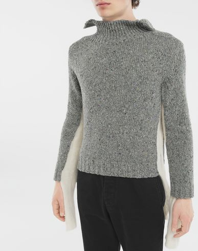 SWEATERS Double layer sweater Grey
