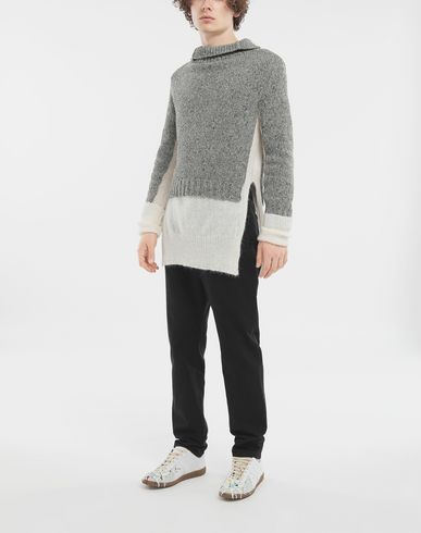 KNITWEAR Double layer sweater Grey