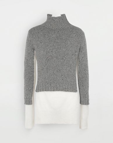 MAISON MARGIELA Double layer sweater High neck sweater Man f