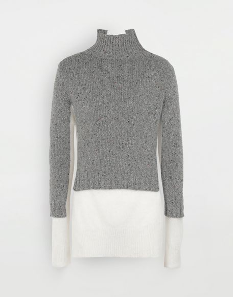 MAISON MARGIELA Double layer sweater High neck Man f