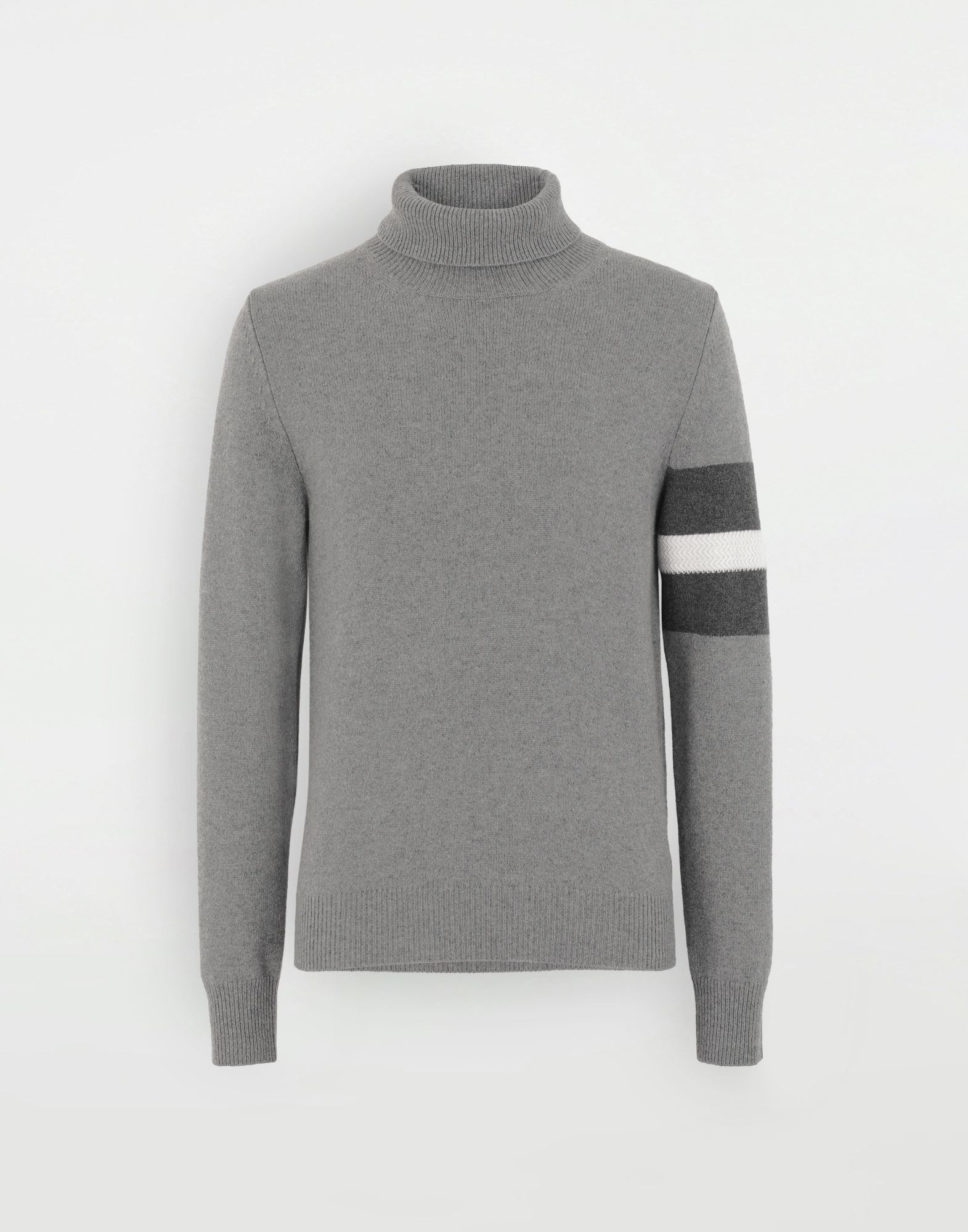MAISON MARGIELA High-neck stripe sweater High neck sweater Man f