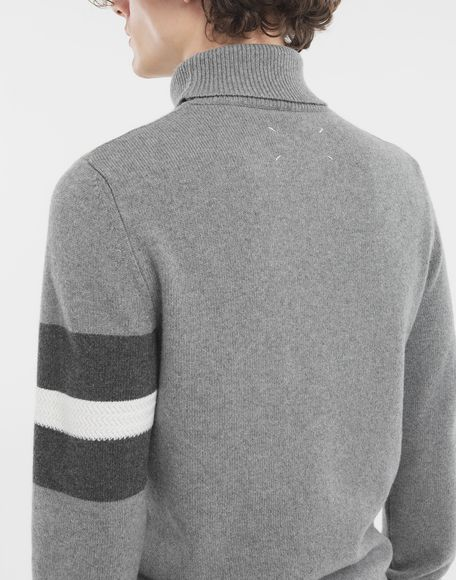 MAISON MARGIELA High-neck stripe sweater High neck sweater Man b