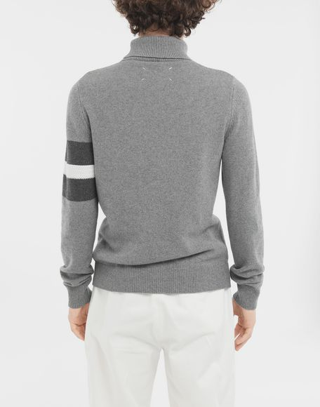 MAISON MARGIELA High-neck stripe sweater High neck sweater Man e
