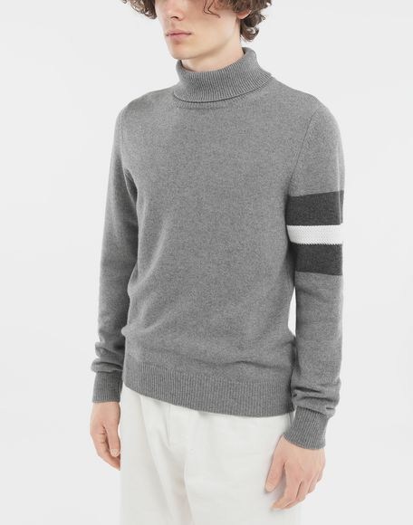 MAISON MARGIELA High-neck stripe sweater High neck sweater Man r