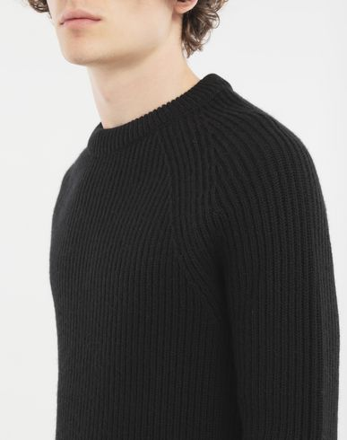 KNITWEAR Ribbed sweater  Black